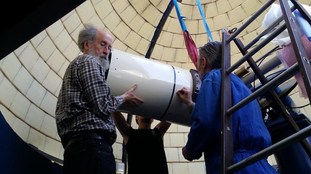 démontage du télescope